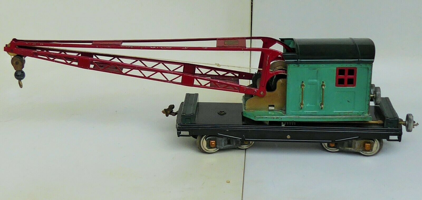 1926-40 LIONEL OPERATING CRANE No.219 STANDARD GAUGE ALL ORIGINAL 23  LONG