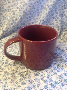 Burgundy Starbucks Mug Coffee Cup Tea Beans Vtg Peets King Pyrex
