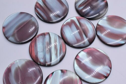 20 Round Blue//Pink Tone Cabochons 35 mm Crafts Jewelry Making Vintage