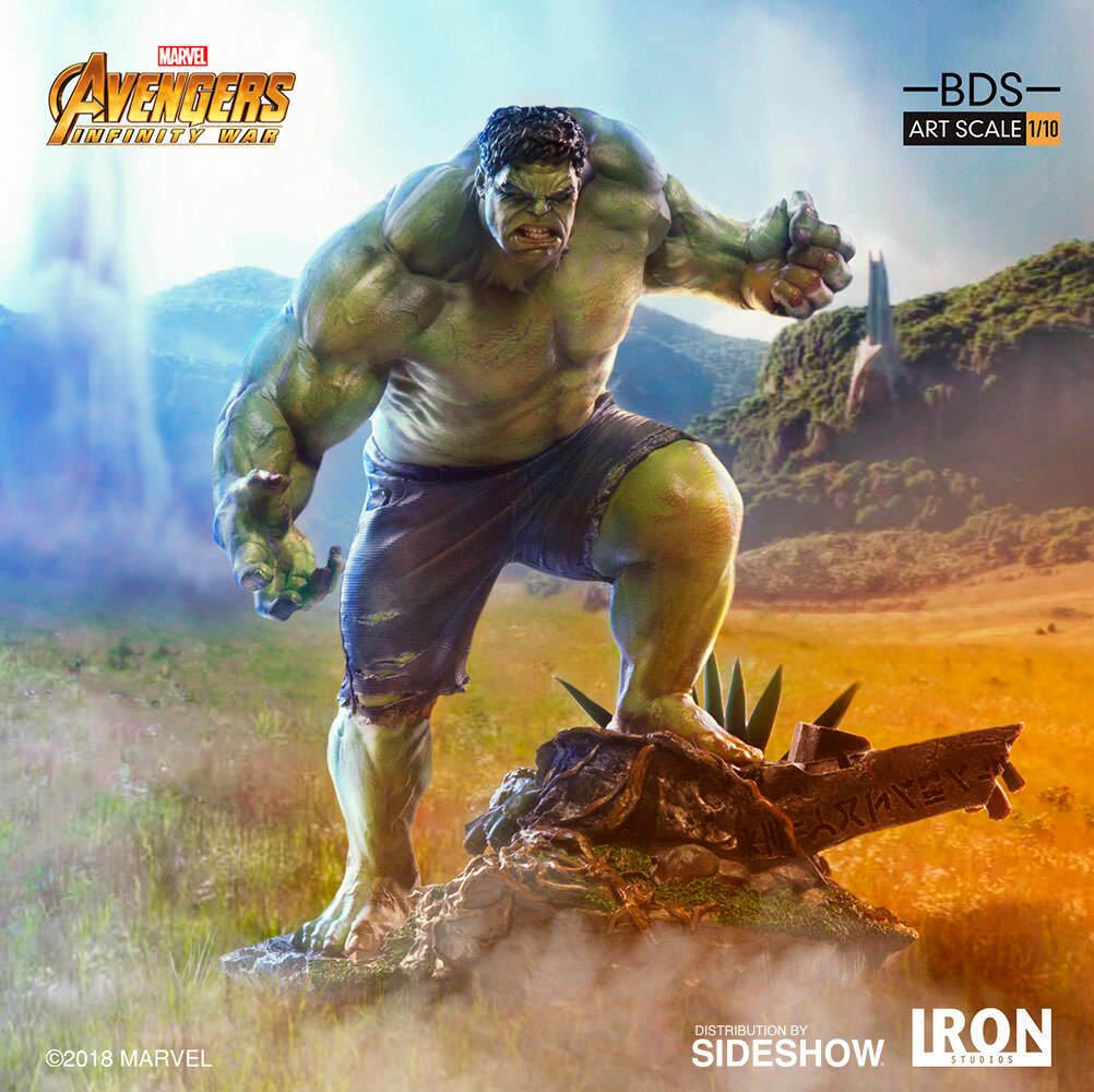 100% AuthenticHot Figures Iron Studios Statue Toys Marvel 1 10 Hulk