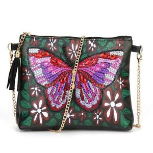 DIY Butterfly Special Shaped Diamond Painting Leather Chain Crossbody Bags S1