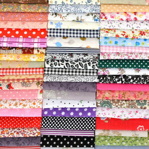 100PCS-10x10cm-DIY-Square-Floral-Cotton-Fabric-Patchwork-Cloth-Crafts-Sewing-Kit