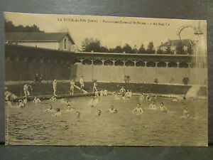 cpa 38 la tour du pin pensionnat externat st bruno la piscine | eBay