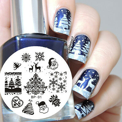 BORN PRETTY BP01 Christmas XMAS Nail Art Stamping Template Image Plate 1pc