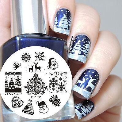 BORN PRETTY BP01 Christmas XMAS Nail Art Stamping Template Image Plate 1pc