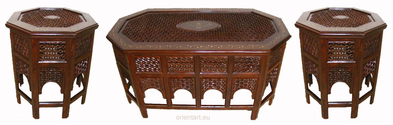 3er Set Orient 1x Table Table Table Basse 2x table d'appoint Table Thé salon table PK 16385f