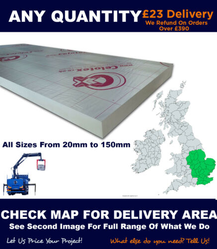Ecotherm Kingspan Celotex P.I.R Insulation 2400x1200 8x4 Check Delivery Area