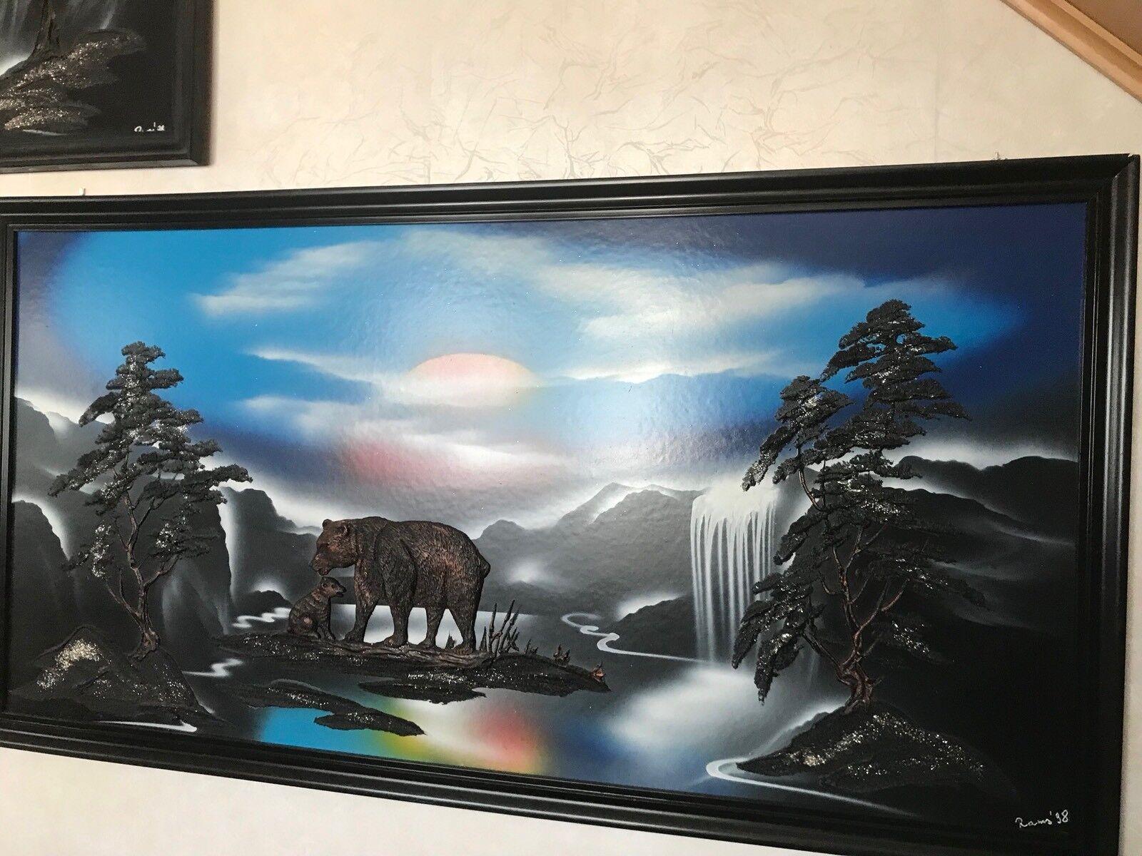 Das Bild In Grossformat Im Schwarzramen  68 x 130 x 2,2