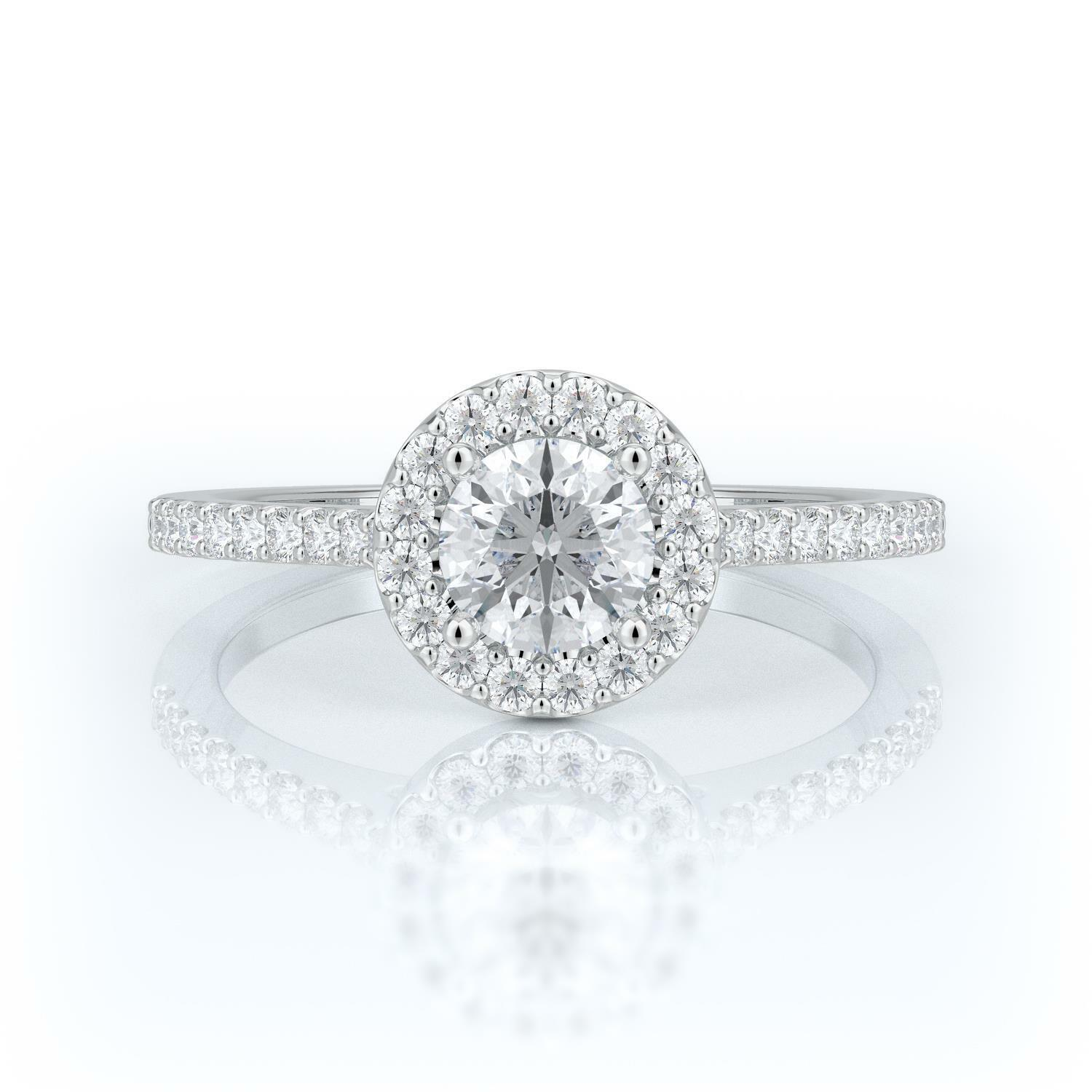 1 1 2 CT ROUND CUT D VS2 HALO DIAMOND SOLITAIRE ENGAGEMENT RING 14K WHITE gold