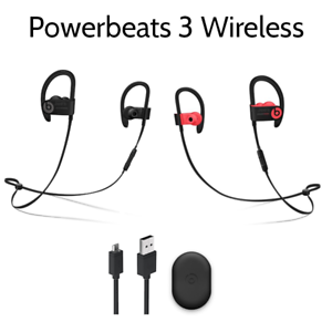 Details about Authentic Beats by Dr Dre Powerbeats3 Wireless In Ear  Headphones - Black Red