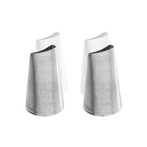 Ateco 122 Curved Petal Piping Cake Decorating Tubes Plain Tips for Bakeware 2 PC