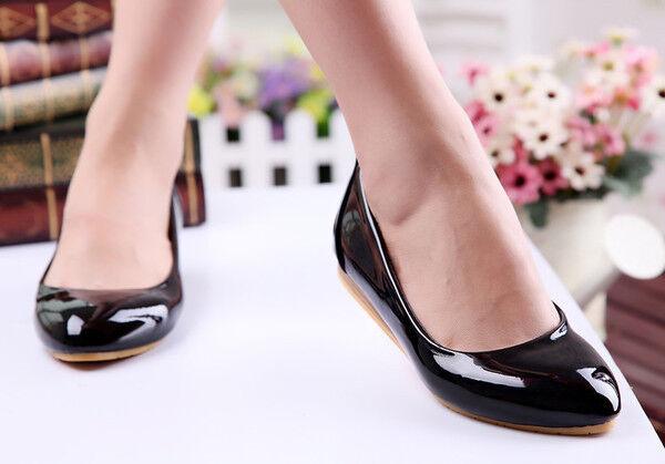 bailarinas mocasines zapatos zapatos zapatos de mujer cómodo negro brillante como piel 9738 078ec7