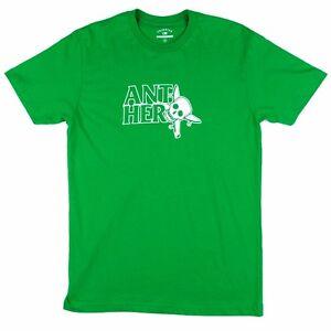 Fourstar X Anti Hero THUMBS UP Skateboard T Shirt KELLY GREEN XL