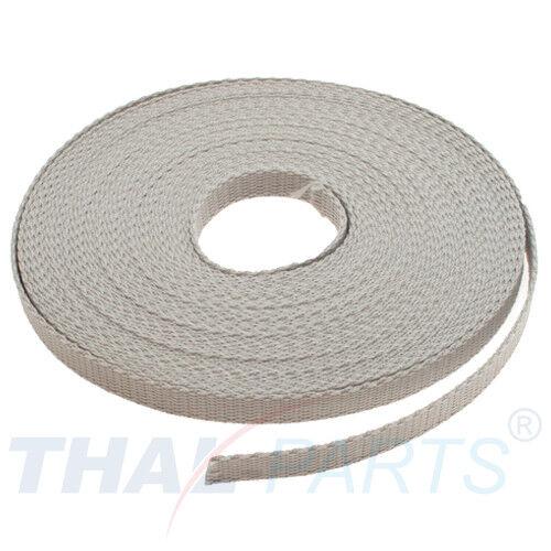 grau Polypropylen Taschengurt 1,6mm stark 10m Gurtband 10mm Breit ca