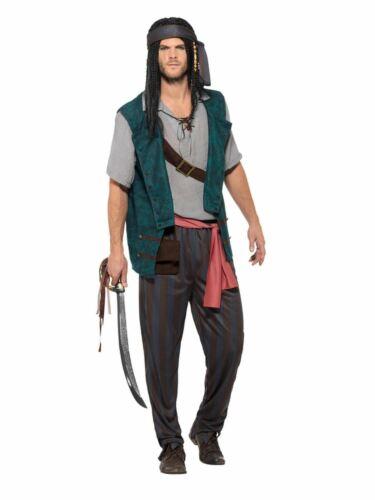 Pirate Deckhand  Men/'s Fancy Dress Costume