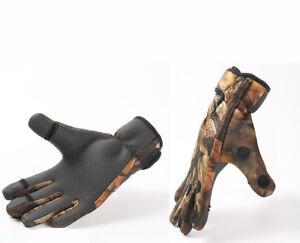 Fishing-Gloves-Neoprene-Camo-Folding-Fingers-Hunting-Shooting-M-L-amp-XL