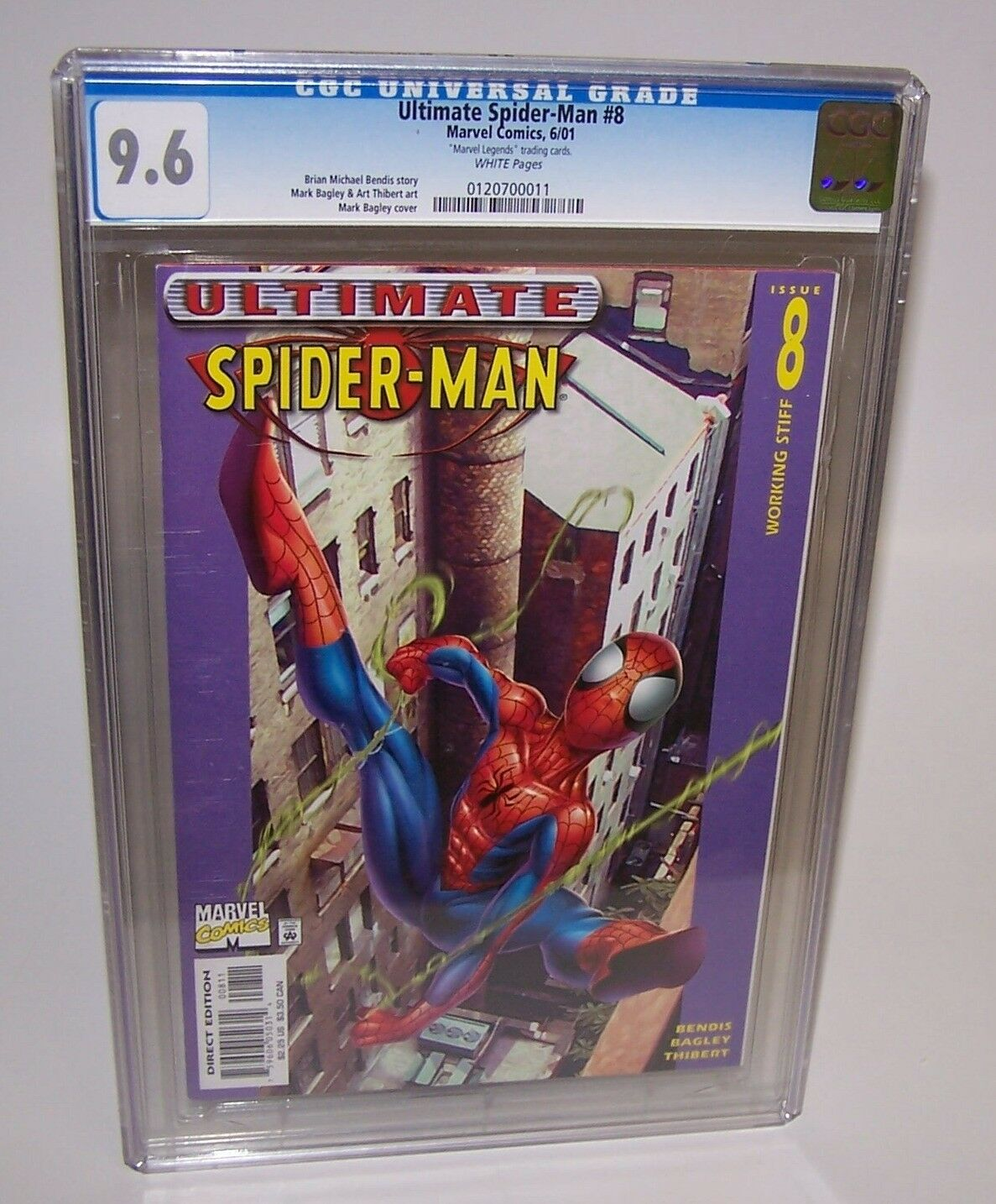 CGC CGC CGC Graded Marvel Comic Book 9.6 Ultimate Spider-Man  8 6 01 Working Stiff f0e299