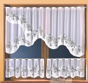 Cafe-Net-Curtain-White-3-Pieces-Window-Set-High-Quality-Ready-Made-Panels