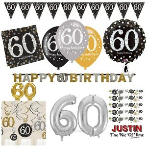 60th-Gold-Celebration-Birthday-Party-Supplies-Balloons-Tableware-amp-Decorations
