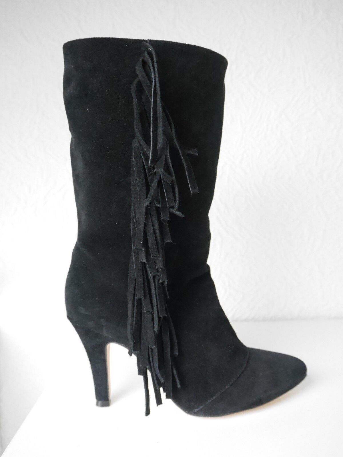 Ipekyol Stiefel Stiefeletten schwarz Leder Leder Leder Wildleder Fransen Gr. 39 NEU  | Qualität Produkt  2885c9
