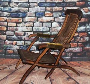 ... Victorian Bergere Folding Steamer Deck Chair FREE Delivery