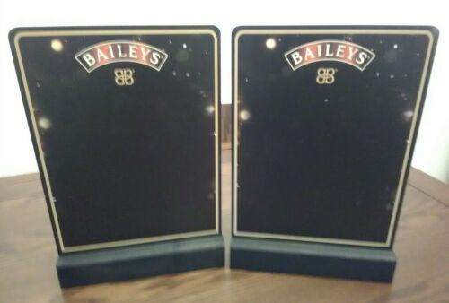 4 x Baileys FESTIVE Double Sided Bar Top Table Top Chalk Boards New Joblot