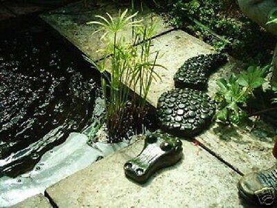 Garden Ornament  Mould Crocodile 3 Piece Mold