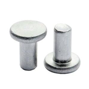 Details about 100pcs M3/M4 flat head pan aluminum pop rivets solid  percussion rivet hand