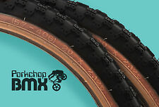 "Kenda Comp 3 III old school BMX skinwall gumwall tires 20"" X 2.125"" BLACK (PAIR)"