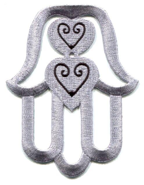 Hand Of Fatima Hamsa Embroidered Iron On Patch Eye Zen Buddha