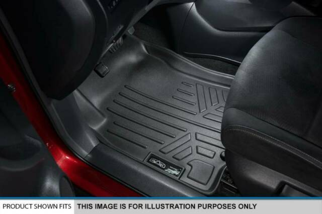 Passenger /& Rear Floor GGBAILEY D60259-S1A-BLK/_BR Custom Fit Car Mats for 2017 2018 Audi A4 Black with Red Edging Driver