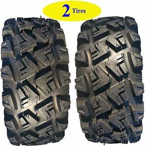 TWO 26x9.00R-12 26x9.00-12 26x900-12 26x9-12 ATV TIRE Carlisle Versa Trail 6ply