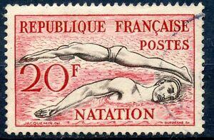 STAMP-TIMBRE-FRANCE-OBLITERE-N-960-SPORT-JEUX-OLYMPIQUES-HELSINKI-NATATION
