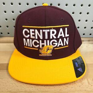 Central-Michigan-University-NCAA-CMU-Adidas-Flat-Bill-Snapback-Baseball-Hat-Cap