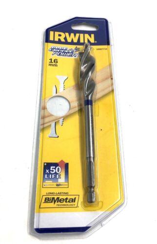 IRWIN BLUE GROOVE POWER 16mm BI-METAL WOOD DRILL BIT 10507713