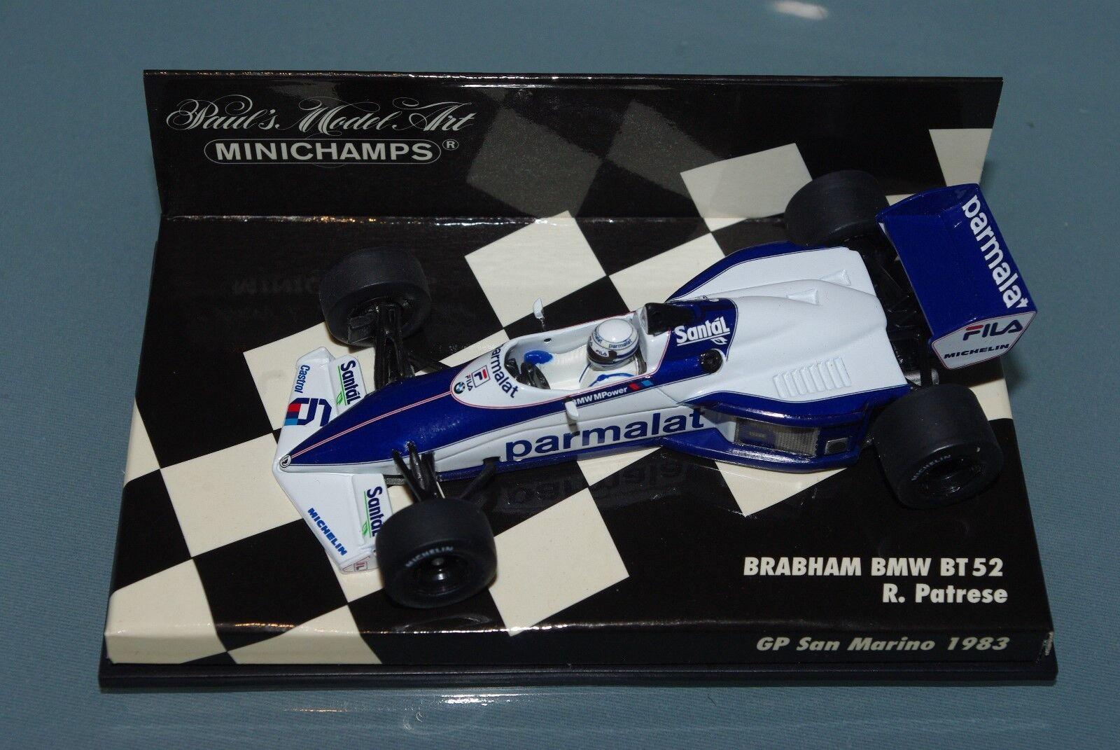 Minichamps  F1 BRABHAM BMW BT52 RICCARDO PATRESE ha GP SAN MARINO 1983