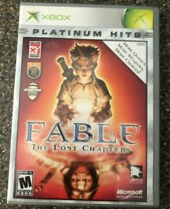 Fable-the-Lost-Chapters-Xbox-Platinum-Hits-Complete-In-Box-CIB-Free-Ship