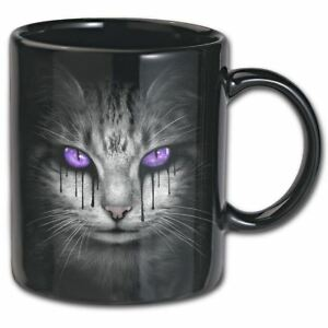 Spiral-Direct-Gothic-Cheshire-Cat-039-s-Tears-Bat-Cat-Black-Ceramic-Mug-300ml