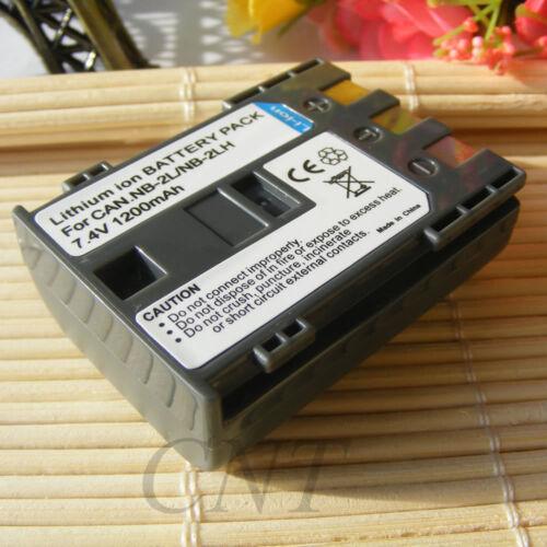Batería para Canon NB-2L PC1018 Powershot G9 S30 S40 S45 S50 S60 S70 S80