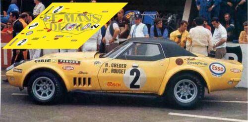 Calcas Corvette C3 Le Mans 1970 1 2 1:32 1:43 1:24 1:18 87 Chevrolet slot decals