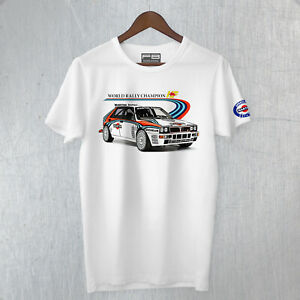 T-Shirt-LANCIA-DELTA-EVOLUZIONE-HF-MARTINI-RACING-Montecarlo-Rally-Car-Old-WRC
