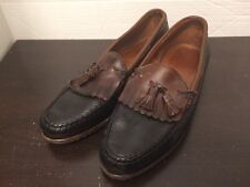 Allen Edmonds NASHUA Kilte Tassel  Loafers 13 D Black/Brown Trim