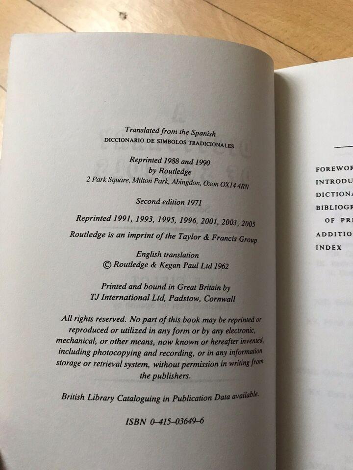A directory of Symbols, J.E. Cirlot, emne: kunst og kultur