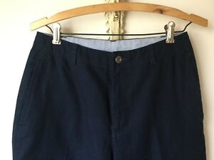 Liz Claiborne Lizwear Navy Blue Slacks Pants 6 Cotton Crease High