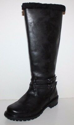 GH Bass NIB Women Lydia Black Fur Line Winter Snow Boots Water Resistant