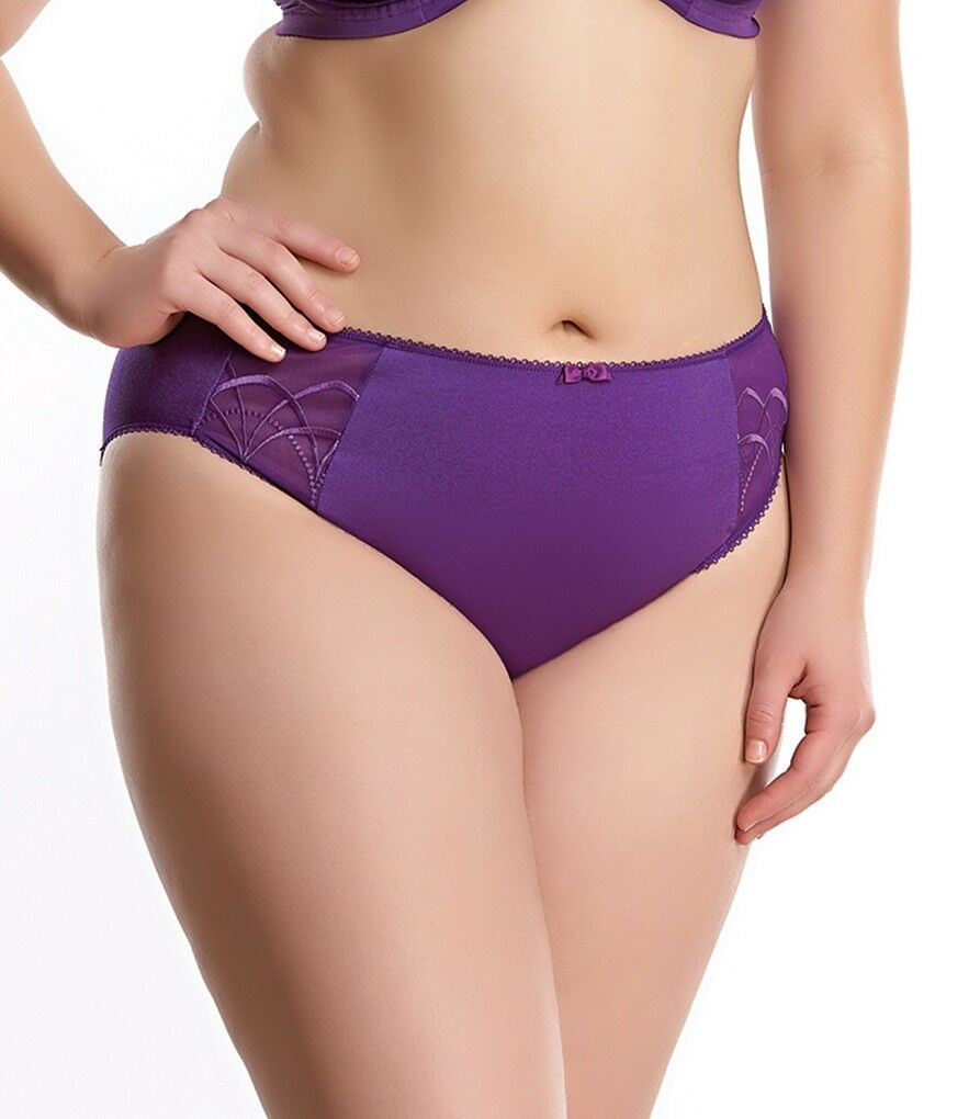 Elomi Women's Cate Brief EL4035 Pansy NWT Sizes Availabele M-4XL