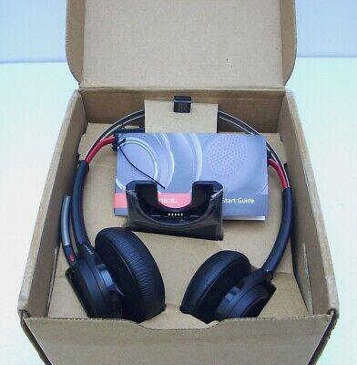 Plantronics Voyager Focus Uc B825 Bluetooth Usb Headphones With Stand 202652 01 Ebay