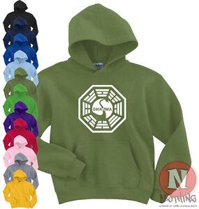 baratas para descuento 2fc52 b18a9 Detalles de Dharma Initiative Cisne Logo Perdido Serie Tv Sudadera con  Capucha