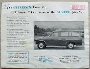 UTILECON ESTATE CAR AUSTIN VAN CONVERSION Sales Specification Leaflet 1960s?