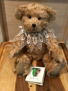 Vintage-Margith-Wilkison-Mohair-Jointed-14-034-Bear-Artist-Signed-Numbered-Rare